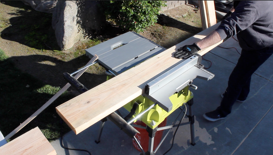 cutting 2 by 6 boards for dining table top