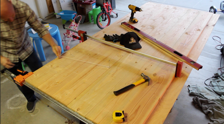 clamping together boards for the table top