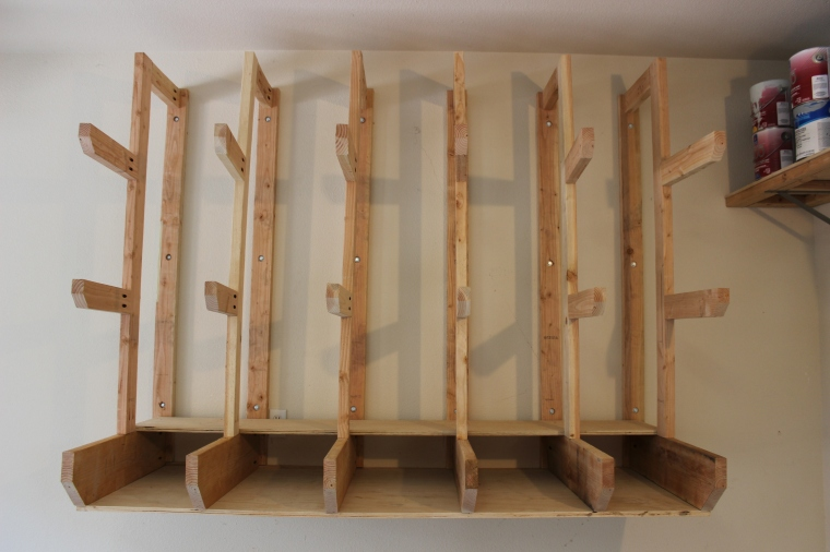 wall-mount lumber rack