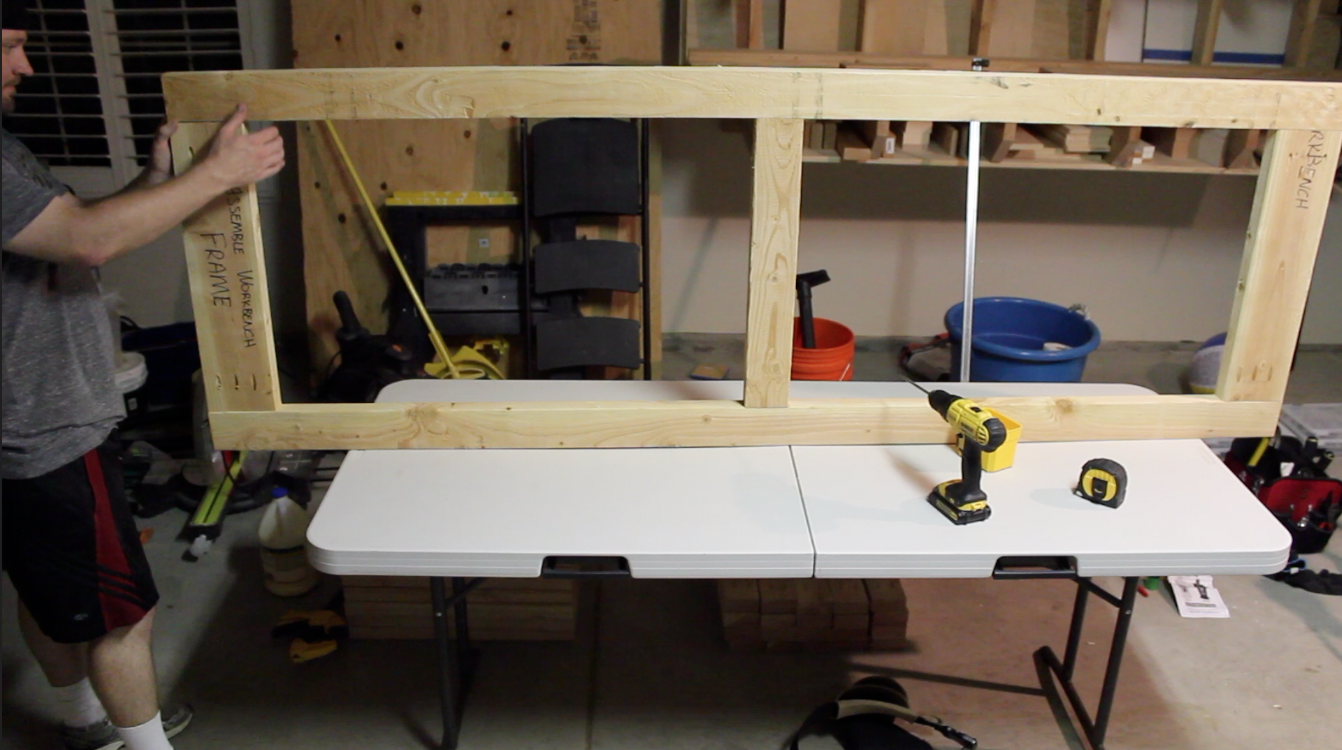 assembling workbench frame