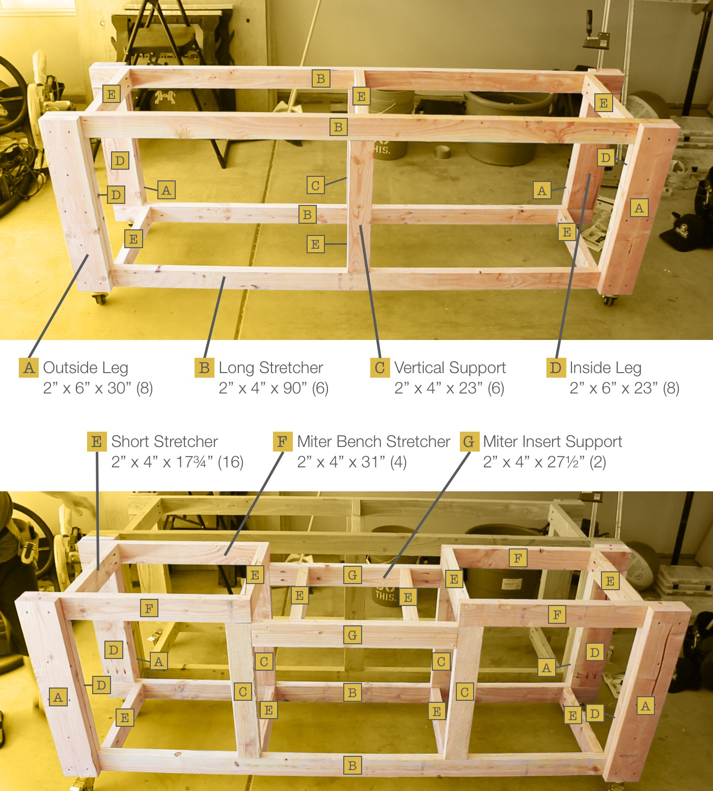 detailed plans for a mobile modular workbench