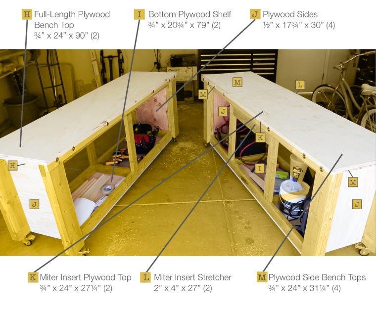 Workbench plans - Outer parts