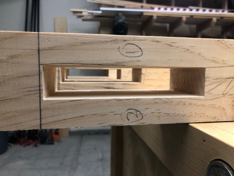 mortises for table legs