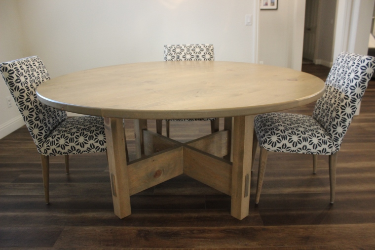dining table with chairs around it