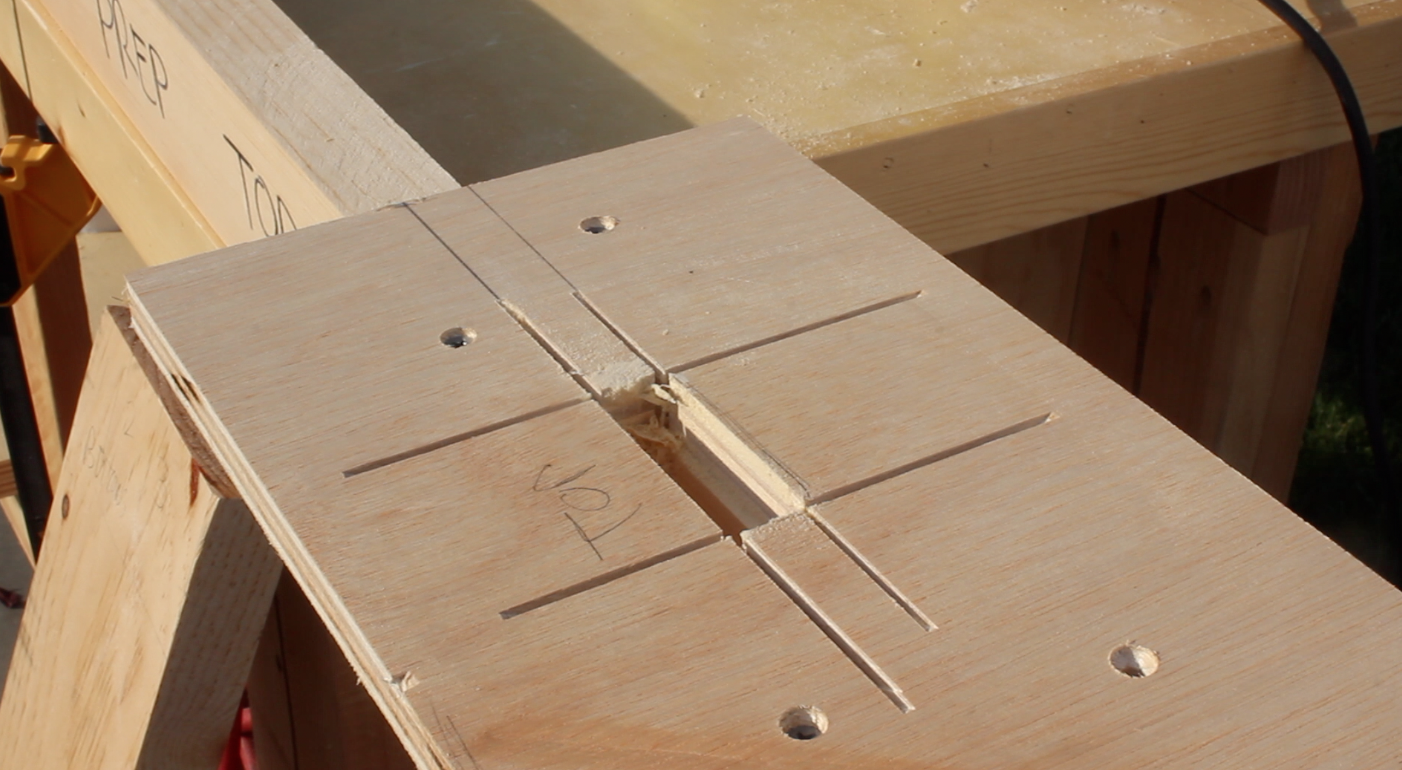 mortise jig used on top stretcher