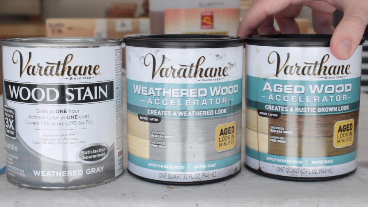How to age wood with weathered gray stain and aging accelerators