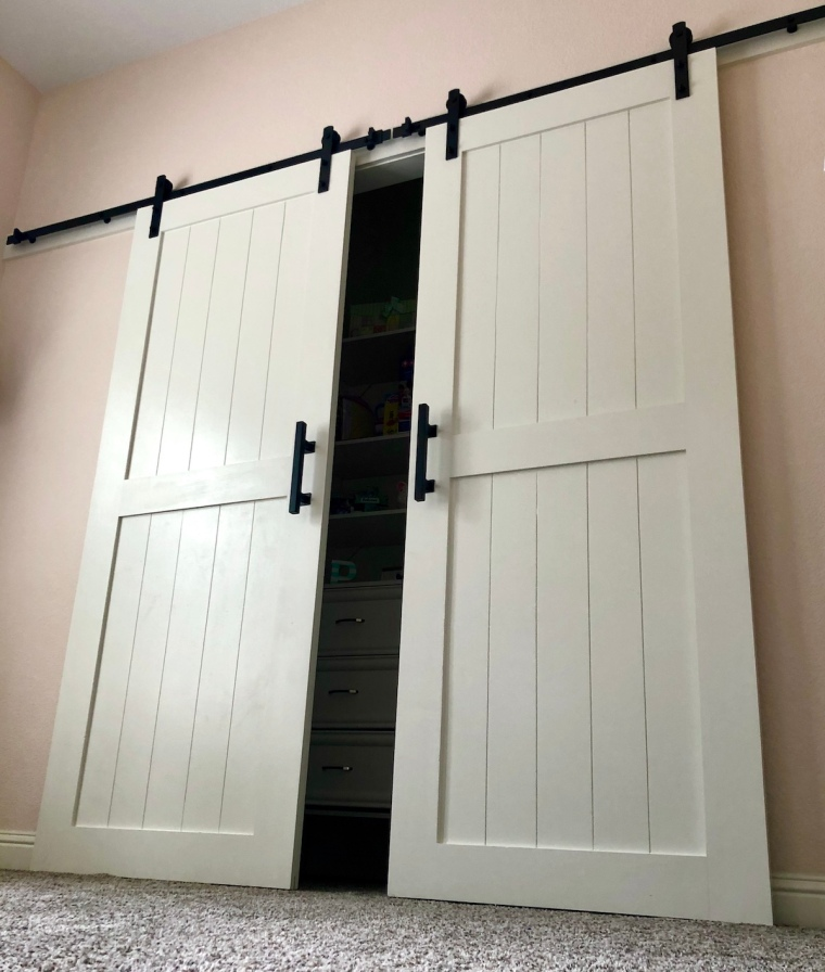 Sliding Barn Doors for a Bedroom Closet